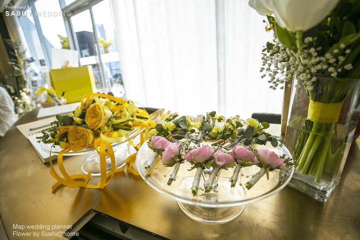 Update เทรนด์สีมาแรง กับงานหมั้นสีเหลือง! สวยแปลกตา by Sushi@home