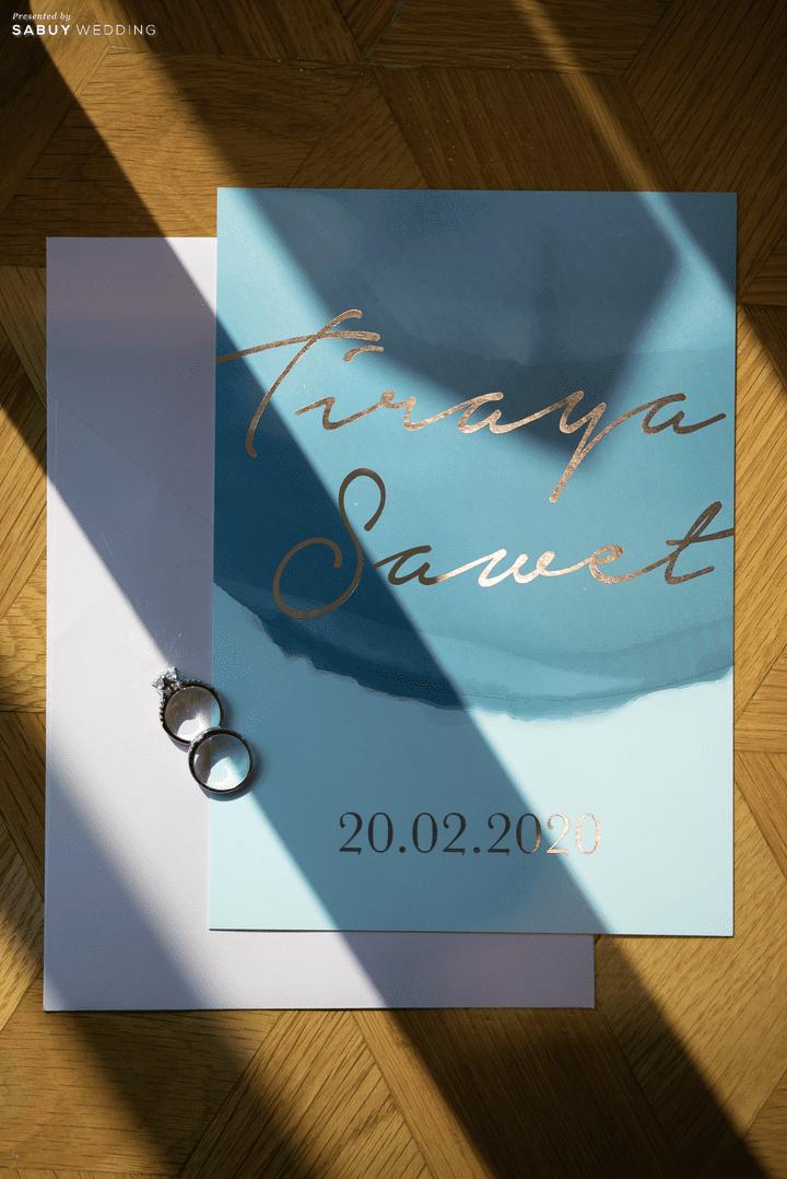 การ์ดแต่งงาน รีวิวงานแต่งสุด Classy ด้วยธีมสี Slate Blue และคริสตัล @ Grand Hyatt Erawan Bangkok