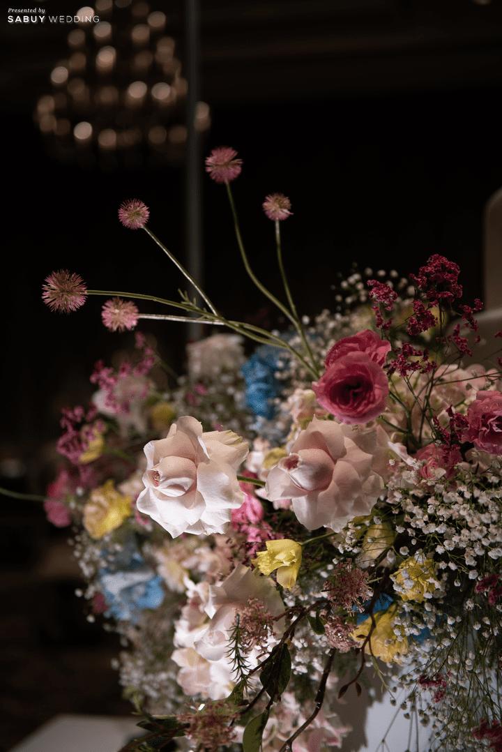 ดอกไม้งานแต่ง รีวิวงานแต่งสุด Classy ด้วยธีมสี Slate Blue และคริสตัล @ Grand Hyatt Erawan Bangkok