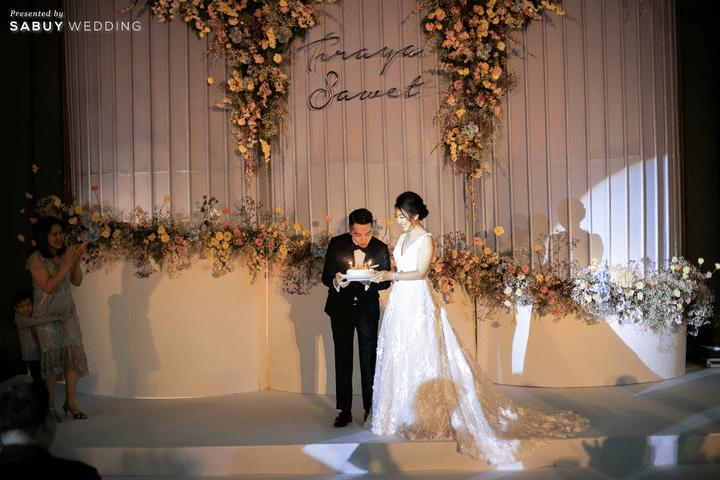 backdrop,ตกแต่งงานแต่งงาน,ออแกไนเซอร์ รีวิวงานแต่งสุด Classy ด้วยธีมสี Slate Blue และคริสตัล @ Grand Hyatt Erawan Bangkok