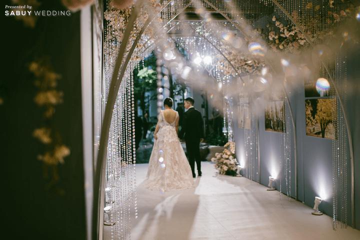 ตกแต่งงานแต่งงาน รีวิวงานแต่งสุด Classy ด้วยธีมสี Slate Blue และคริสตัล @ Grand Hyatt Erawan Bangkok