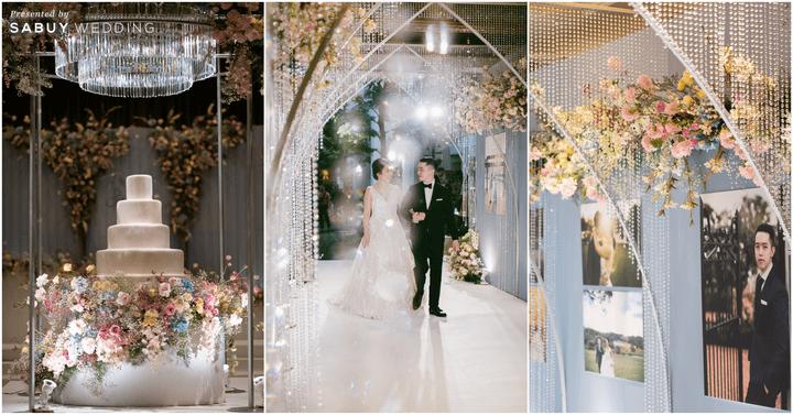ตกแต่งงานแต่งงาน,เค้กแต่งงาน,ชุดแต่งงาน รีวิวงานแต่งสุด Classy ด้วยธีมสี Slate Blue และคริสตัล @ Grand Hyatt Erawan Bangkok