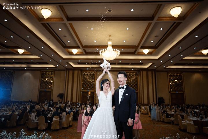 รีวิวงานแต่ง ละมุนใจ ด้วยโทนสีขาวและชมพูพาสเทล  @ Prince Palace Hotel