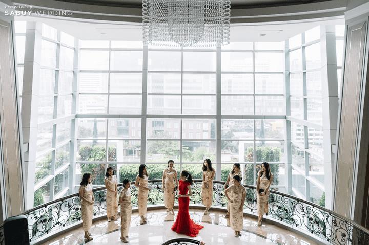 ชุดแต่งงาน,เพื่อนเจ้าสาว รีวิวงานแต่งเช้าเลี้ยงเย็นไซส์ใหญ่ จัดงานสุดเซอร์ไพรส์ได้ใจแขก @ The Berkeley Hotel Pratunam