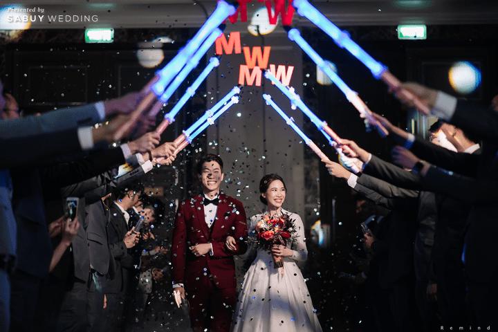 ชุดแต่งงาน รีวิวงานแต่งเช้าเลี้ยงเย็นไซส์ใหญ่ จัดงานสุดเซอร์ไพรส์ได้ใจแขก @ The Berkeley Hotel Pratunam