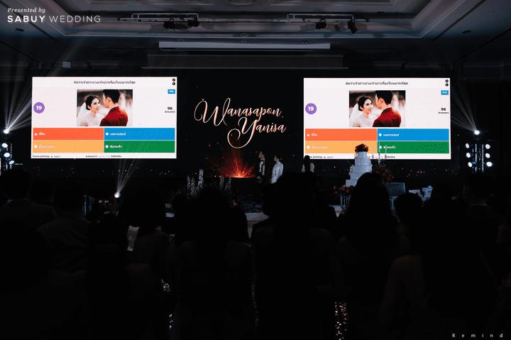 งานแต่งงาน รีวิวงานแต่งเช้าเลี้ยงเย็นไซส์ใหญ่ จัดงานสุดเซอร์ไพรส์ได้ใจแขก @ The Berkeley Hotel Pratunam