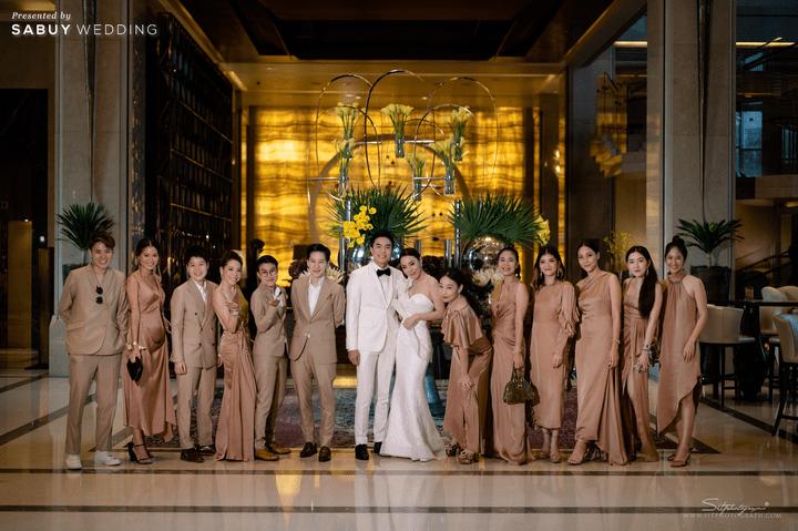 สถานที่แต่งงาน,ชุดแต่งงาน รีวิวงานแต่งสวยหรูดูชิค กับเทคนิคคุมงบให้อยู่หมัด  @ Siam Kempinski Hotel Bangkok