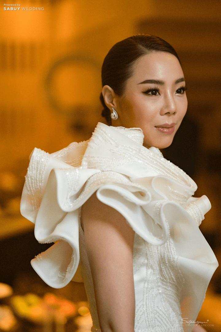 ชุดเจ้าสาว,ช่างแต่งหน้าเจ้าสาว รีวิวงานแต่งสวยหรูดูชิค กับเทคนิคคุมงบให้อยู่หมัด  @ Siam Kempinski Hotel Bangkok