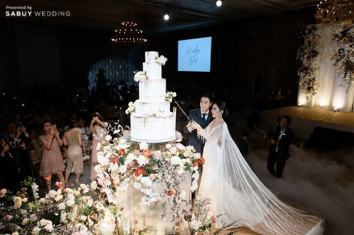 เค้กแต่งงาน รีวิวงานแต่งสวยหรูดูชิค กับเทคนิคคุมงบให้อยู่หมัด  @ Siam Kempinski Hotel Bangkok