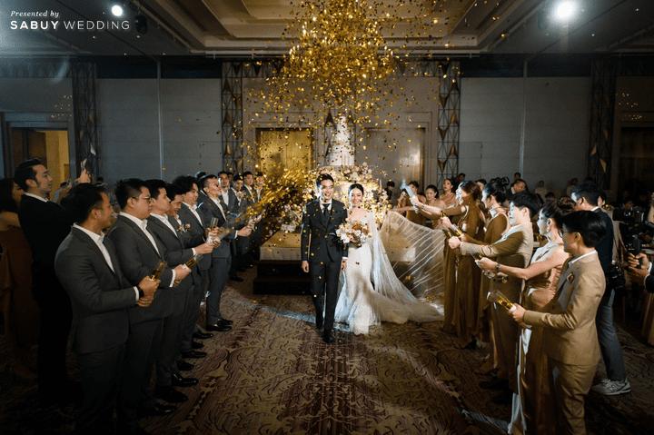 ชุดเจ้าสาว,งานแต่งงาน รีวิวงานแต่งสวยหรูดูชิค กับเทคนิคคุมงบให้อยู่หมัด  @ Siam Kempinski Hotel Bangkok