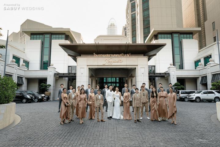 สถานที่จัดงานแต่งงาน รีวิวงานแต่งสวยหรูดูชิค กับเทคนิคคุมงบให้อยู่หมัด  @ Siam Kempinski Hotel Bangkok