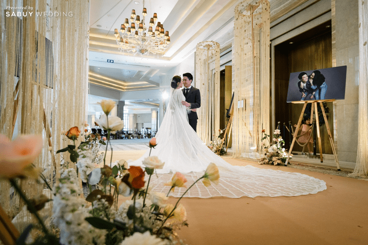 ตกแต่งสถานที่แต่งงาน รีวิวงานแต่งสวยหรูดูชิค กับเทคนิคคุมงบให้อยู่หมัด  @ Siam Kempinski Hotel Bangkok