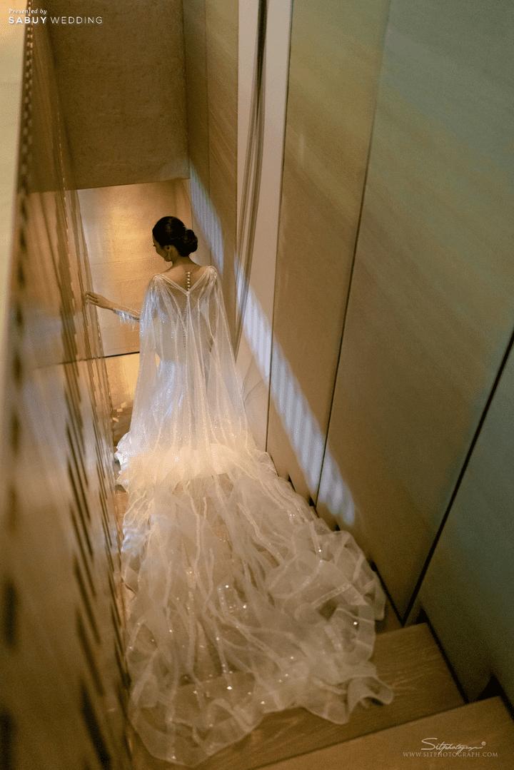 ชุดเจ้าสาว รีวิวงานแต่งสวยหรูดูชิค กับเทคนิคคุมงบให้อยู่หมัด  @ Siam Kempinski Hotel Bangkok