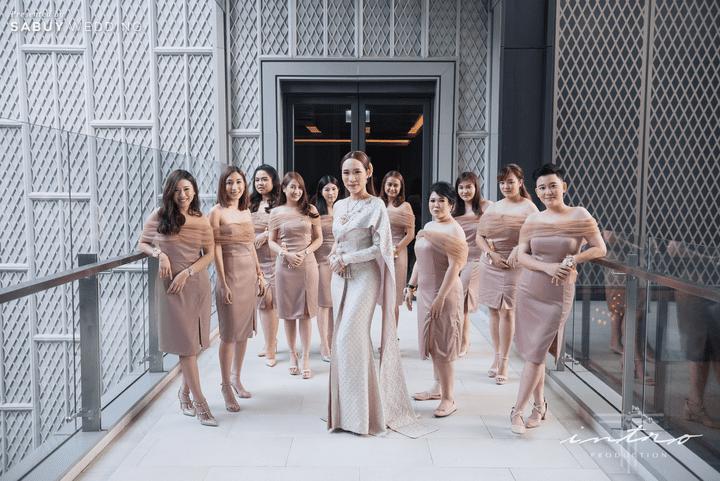รีวิวงานแต่งหมั้นเช้าเลี้ยงเย็นสุดหรู กับธีม Navy Blue Gold @Bangkok Marriott The Surawongse