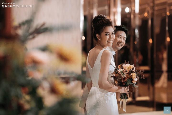 ดอกไม้เจ้าสาว,ชุดแต่งงาน รีวิวงานแต่งธีม Garden สีคอปเปอร์สุดปัง @ Hyatt Regency Bangkok Sukhumvit