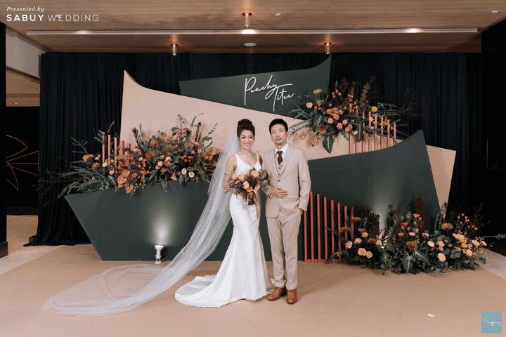 ชุดแต่งงาน,เจ้าบ่าว,เจ้าสาว,ชุดเจ้าสาว รีวิวงานแต่งธีม Garden สีคอปเปอร์สุดปัง @ Hyatt Regency Bangkok Sukhumvit
