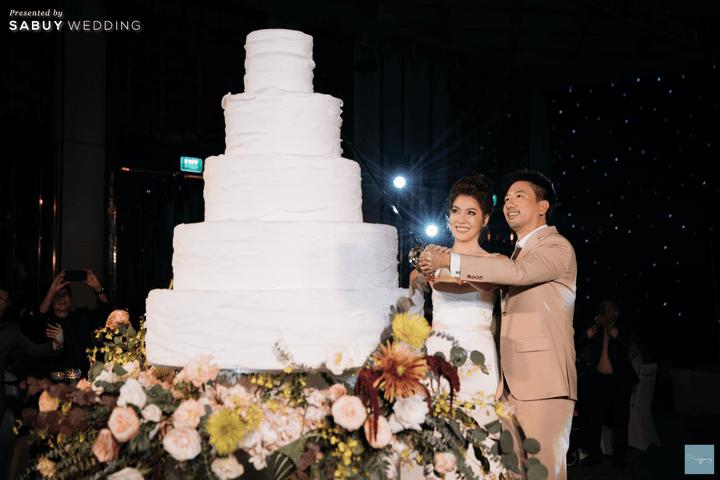 เค้กแต่งงาน รีวิวงานแต่งธีม Garden สีคอปเปอร์สุดปัง @ Hyatt Regency Bangkok Sukhumvit