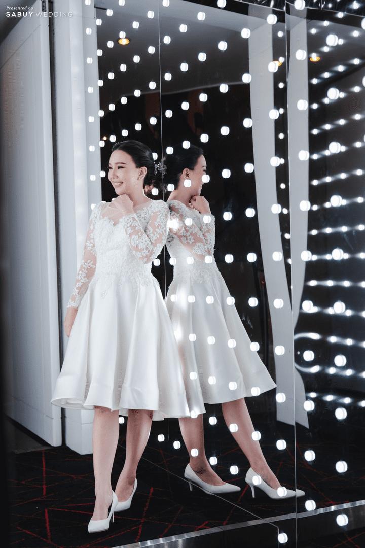 ชุดเจ้าสาว รีวิวงานแต่งสวยหวานกับโทนสีครีม ทอง น้ำตาล สุดอบอุ่น @ Crowne Plaza Bangkok Lumpini Park