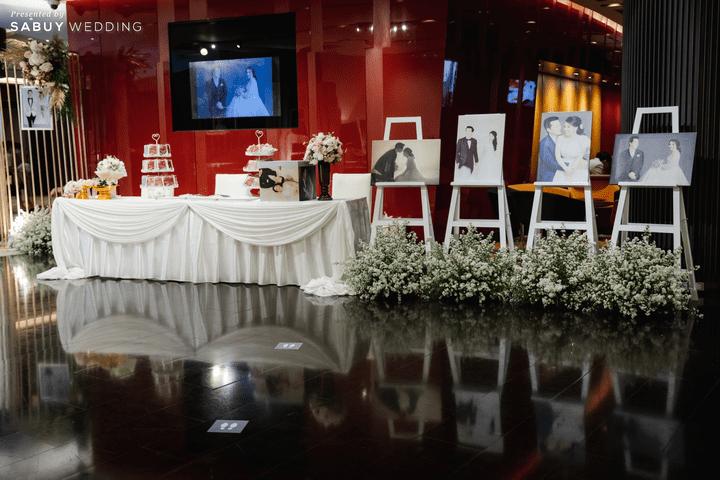 งานแต่งงาน รีวิวงานแต่งสวยหวานกับโทนสีครีม ทอง น้ำตาล สุดอบอุ่น @ Crowne Plaza Bangkok Lumpini Park