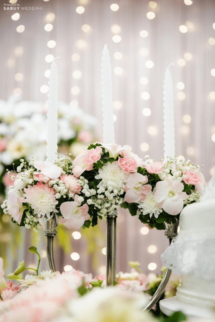 ตกแต่งงานแต่งงาน รีวิวงานแต่งสวยหวานกับโทนสีครีม ทอง น้ำตาล สุดอบอุ่น @ Crowne Plaza Bangkok Lumpini Park