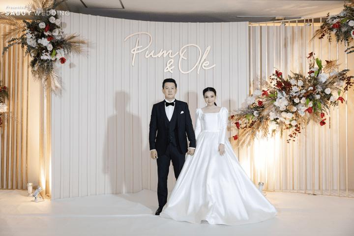 ตกแต่งงานแต่งงาน,ออแกไนเซอร์ รีวิวงานแต่งสวยหวานกับโทนสีครีม ทอง น้ำตาล สุดอบอุ่น @ Crowne Plaza Bangkok Lumpini Park