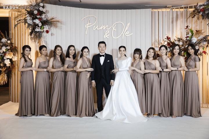 เจ้าบ่าว,เจ้าสาว,เพื่อนเจ้าสาว,ชุดแต่งงาน รีวิวงานแต่งสวยหวานกับโทนสีครีม ทอง น้ำตาล สุดอบอุ่น @ Crowne Plaza Bangkok Lumpini Park