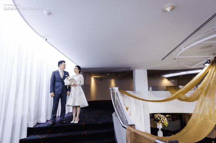 ชุดแต่งงาน รีวิวงานแต่งสวยหวานกับโทนสีครีม ทอง น้ำตาล สุดอบอุ่น @ Crowne Plaza Bangkok Lumpini Park