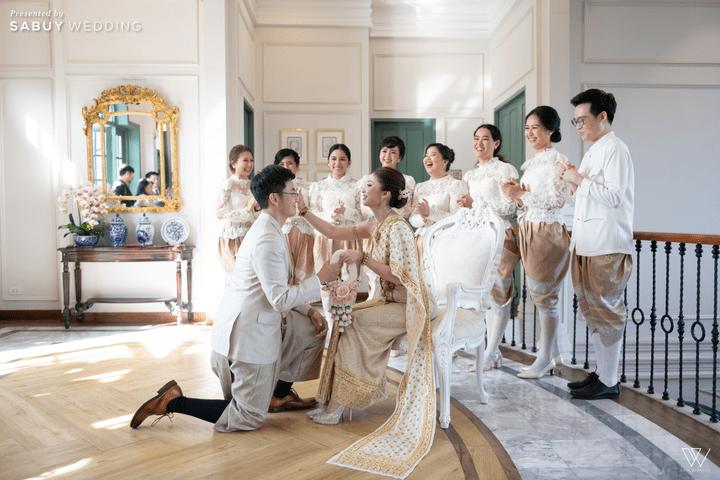 เพื่อนเจ้าสาว,เพื่อนเจ้าบ่าว รีวิวงานแต่งธีมโคโลเนียล ตกแต่ง Unique สวยพีคได้ใจแขก @ Villa De Bua