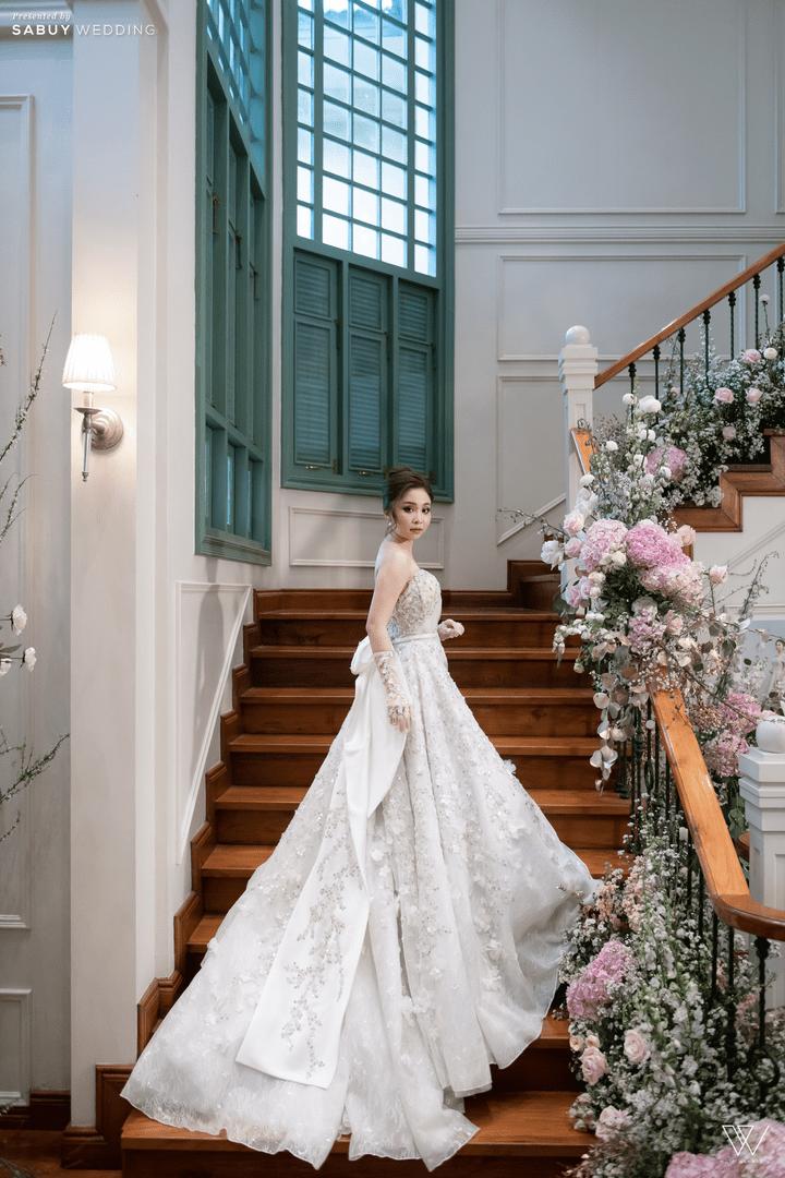 ชุดแต่งงาน,ชุดเจ้าสาว รีวิวงานแต่งธีมโคโลเนียล ตกแต่ง Unique สวยพีคได้ใจแขก @ Villa De Bua