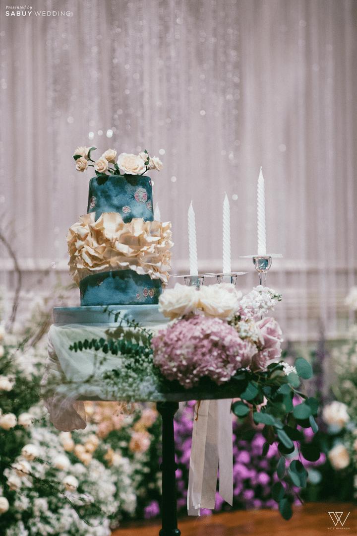 เค้กแต่งงาน รีวิวงานแต่งธีมโคโลเนียล ตกแต่ง Unique สวยพีคได้ใจแขก @ Villa De Bua