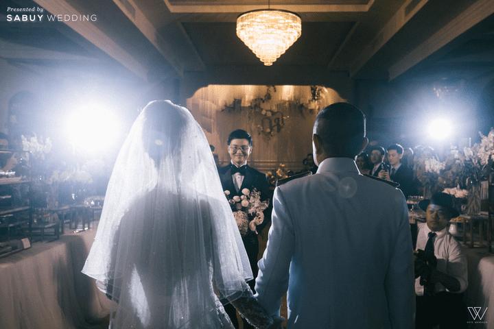 พิธีแต่งงาน รีวิวงานแต่งธีมโคโลเนียล ตกแต่ง Unique สวยพีคได้ใจแขก @ Villa De Bua