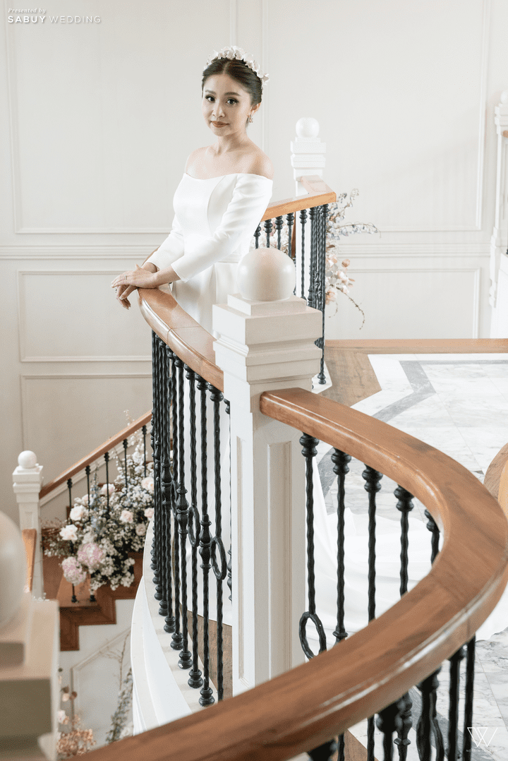 ชุดแต่งงาน รีวิวงานแต่งธีมโคโลเนียล ตกแต่ง Unique สวยพีคได้ใจแขก @ Villa De Bua