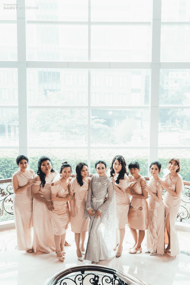 รีวิวงานแต่ง ธีม Silver - Pink ใช้ Lighting ตกแต่งแทนดอกไม้ @The Berkeley Hotel Pratunam