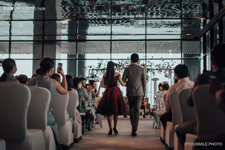 เจ้าบ่าว,เจ้าสาว รีวิวงานแต่งสวยโรแมนติกกับกิมมิคห้องวิวทะเล @ Hilton Pattaya
