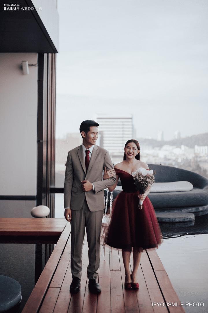 เจ้าบ่าว,เจ้าสาว,ชุดแต่งงาน รีวิวงานแต่งสวยโรแมนติกกับกิมมิคห้องวิวทะเล @ Hilton Pattaya