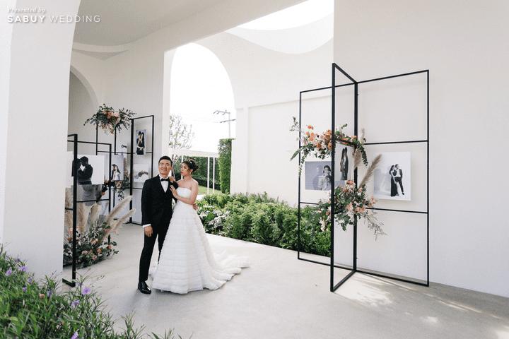งานแต่งงาน,ชุดแต่งงาน รีวิวงานแต่งชมพูเทาสวยดูดี พร้อมวิธีเอนเตอร์เทนแขก @ AUBE