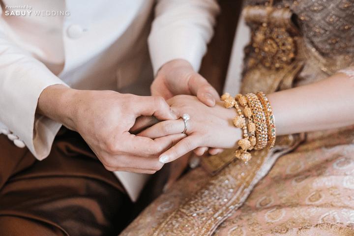 แหวนแต่งงาน รีวิวงานแต่งชมพูเทาสวยดูดี พร้อมวิธีเอนเตอร์เทนแขก @ AUBE