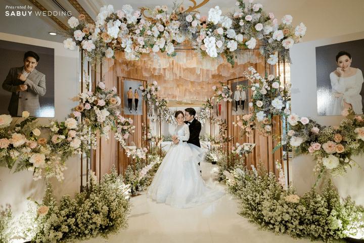 รีวิวงานแต่ง  ธีมฤดูใบไม้ผลิ ในสถานที่ครบวงจร  @ Impact Wedding