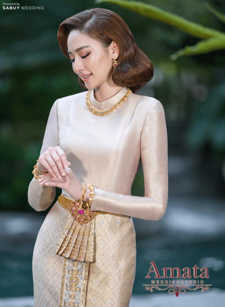 งดงามดั่งนางในวรรณคดีด้วยคอลเล็คชั่นชุดไทยสุดวิจิตรจากห้องเสื้อ Amata