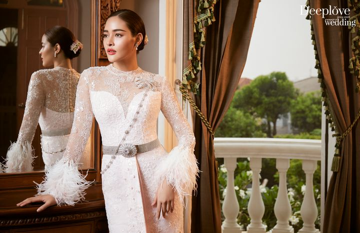New Collection ชุดไทย!! สง่างามด้วยผ้าไหม ตรานกยูงทองพระราชทาน By Deep Love Wedding