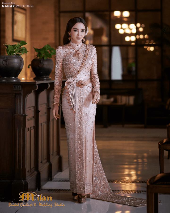 7 ชุดไทยคอลเลคชั่นใหม่ ลุคสวยหวาน จาก Milan Bridal Couture & Wedding Studio