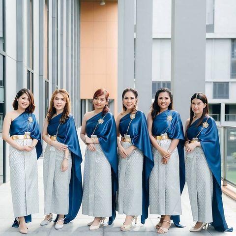 หญิงเอม ชุดไทย ชุดเพื่อนเจ้าสาว